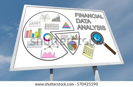 Financial Data Analysis Concept Drawn On A Billboard