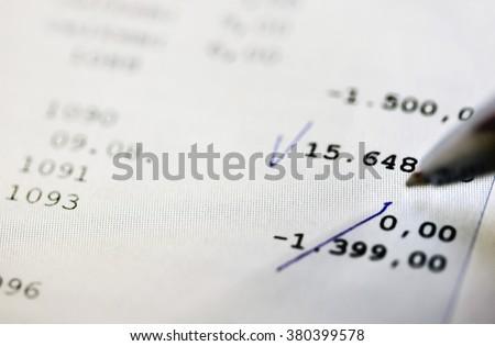 Financial data analyzing Financial data analyzing  - stock photo