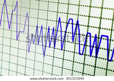 Financial data graph at stock exchange - stock photo