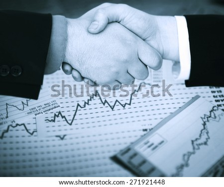 Financial Deal - stock photo