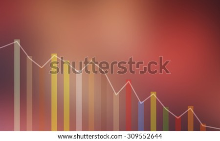 financial decline chart  - stock photo