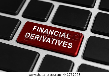 financial derivatives button on keyboard, business concept - stock photo