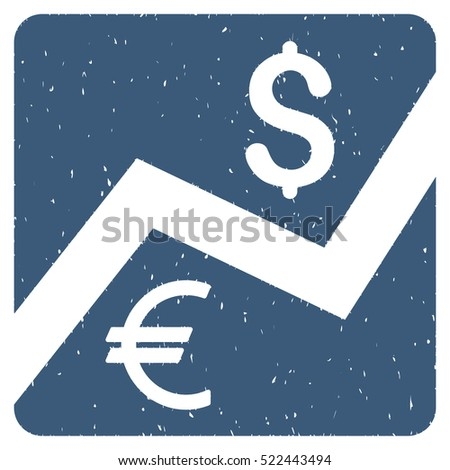Financial Diagram grainy textured icon for overlay watermark stamps. Flat symbol with scratched texture. Dotted glyph blue ink rubber seal stamp with grunge design on a white background.