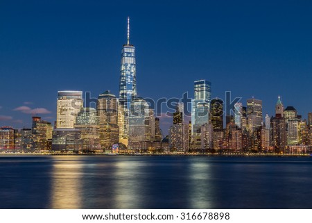 Financial District during Night - stock photo
