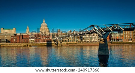 Financial District of London  - stock photo