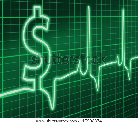 Financial ekg - stock photo