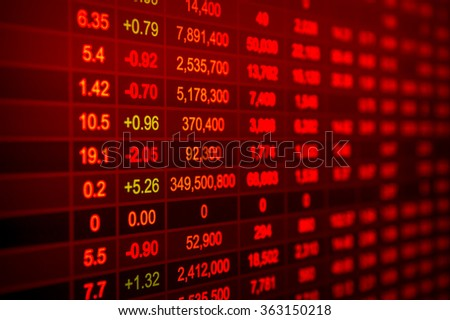 Financial figures background - stock photo