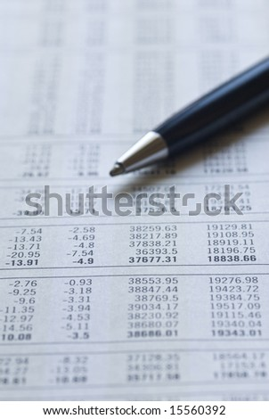 Financial figures making decision. - stock photo