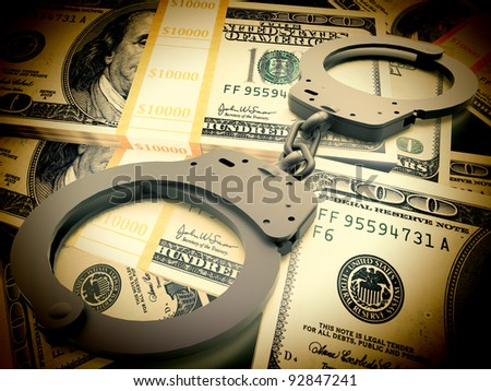 Financial fraud concept - stock photo