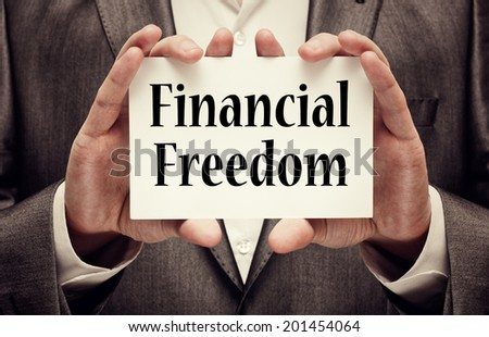 Financial freedom. Business concept - stock photo