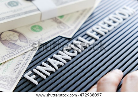 financial freedom concept background