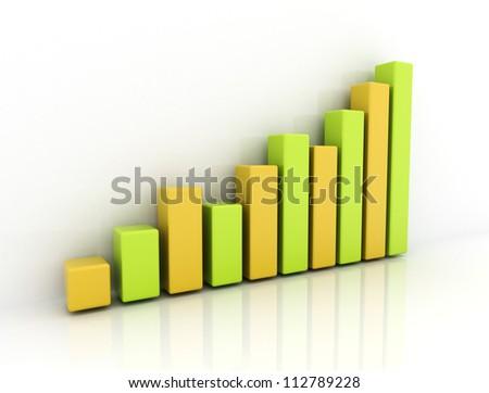 Financial graph - stock photo