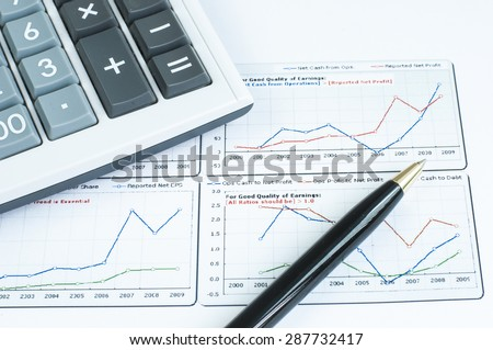 Financial graph analysis calculator and pen