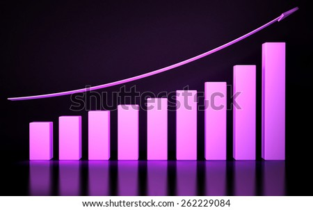 Financial graph on a dark blue background