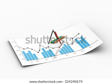 Financial graphs - stock photo
