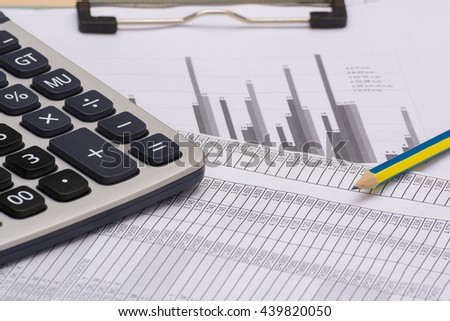 Financial graphs - stock photo
