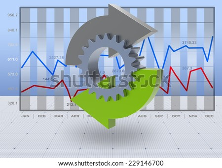 Financial graphs as a successful business concept - stock photo