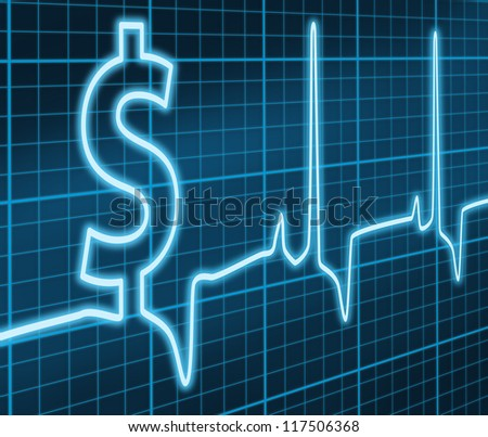 Financial Heart Beat - stock photo