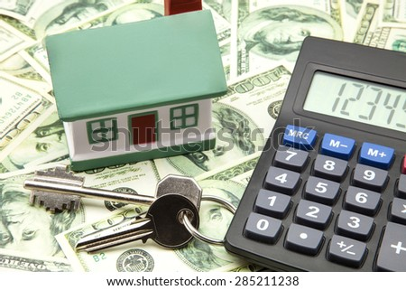 financial investment of purchasing home - stock photo