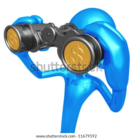 Financial Outlook Binoculars With Gold Coin Lenses