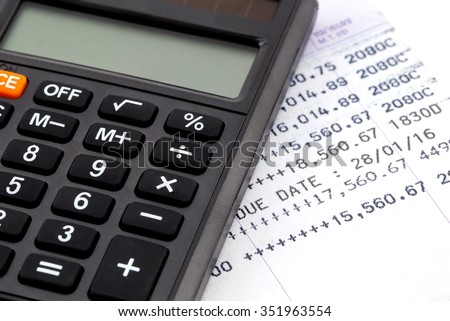 Financial planning with calculator