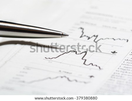 Financial report - stock photo
