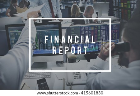 Financial Report Accounting Banking Money Concept - stock photo