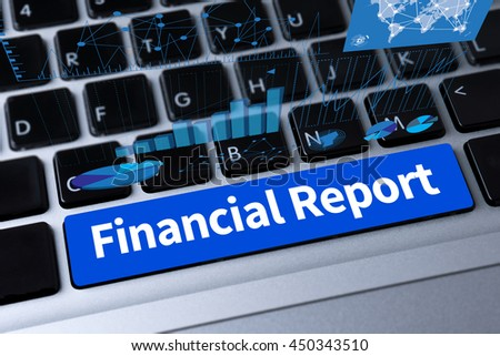 Financial Report   ( Money Cash Growth Analysis ) a message on keyboard