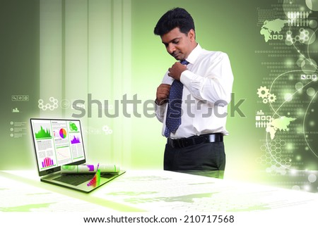 Financial report & statistics - stock photo