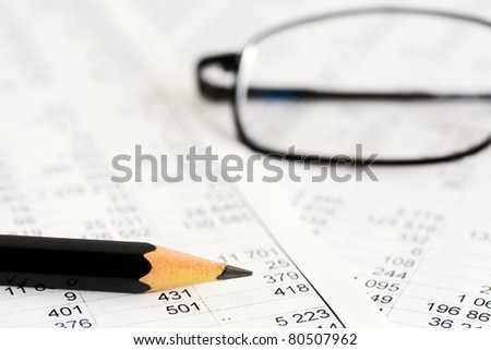 Financial reports - stock photo