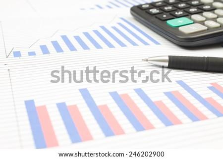 Financial statements - stock photo