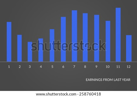 Financial statements review charts. - stock photo