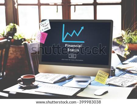Financial Status Money Cash Growth Analysis Concept - stock photo