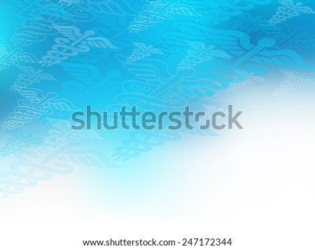 Find a Doctor: Choosing a doctor health care concept as a blue medical icon filled background as a metaphor for finding the right hospital or clinical practitioner. Plenty of copy space. - stock photo
