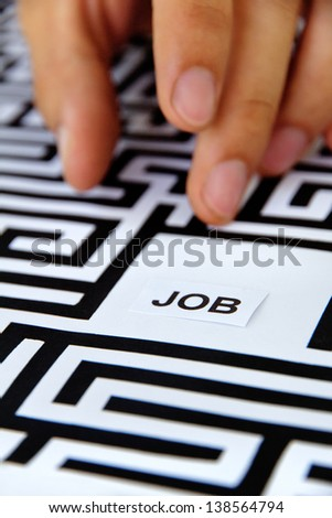 find a job concept - stock photo