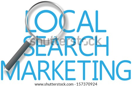 Find a Local Search Marketing solution for business - stock photo