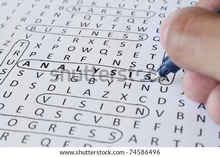 Find analysis - stock photo