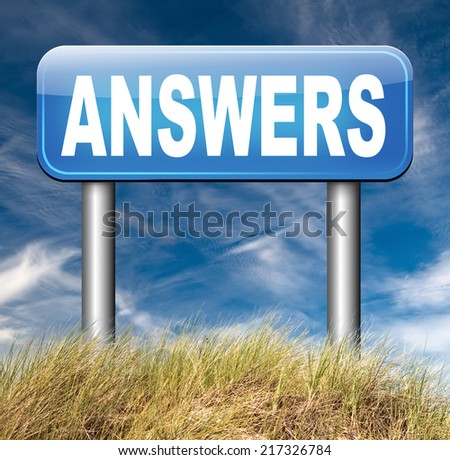 find answers on your questions search solution and information at online info or information support desk solve problems - stock photo