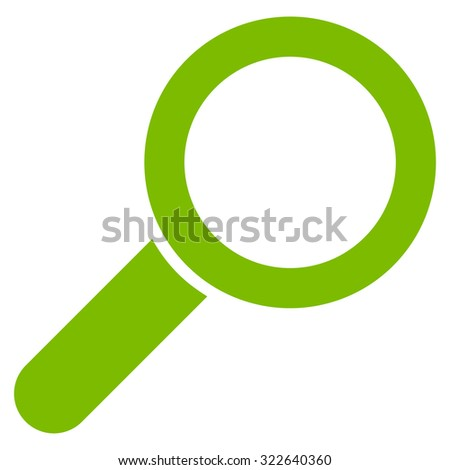 Find glyph icon. Style is flat symbol, eco green color, rounded angles, white background.