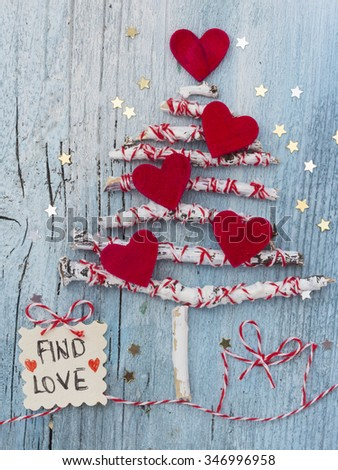 Find Love, Christmas wish - stock photo