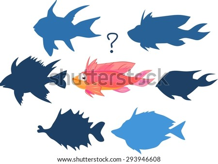 Find silhouette of marine fish