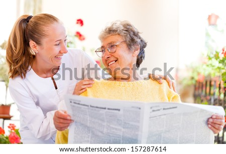 Find the right home care services for your loved - stock photo