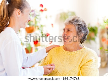Find the right home caregiver for your loved - stock photo