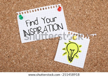 Find Your Inspiration - stock photo