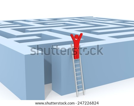 Finding a Solution. Computer Rendered Graphic for the Business Concept - stock photo