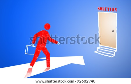 Finding a way out of business. Looking for the best possible way. - stock photo
