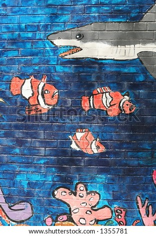 Finding Nemo Wall Mural Stock Photo Royalty Free 1355781