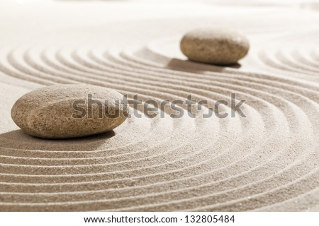 finding solutions with zen mindset - stock photo