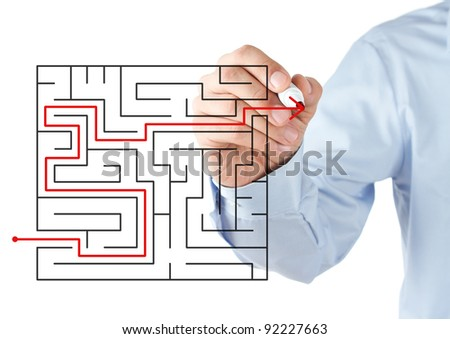 Finding the solution - stock photo