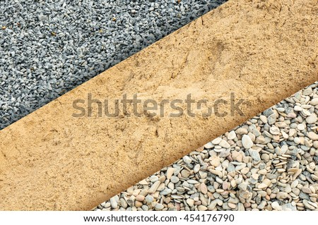 Fine and coarse gravel and sand - various construction materials; Building materials for landscaping or construction industry